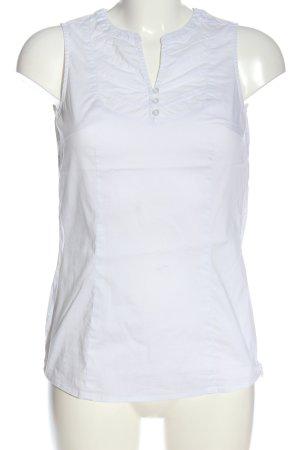 Esprit ärmellose Bluse weiß Casual-Look
