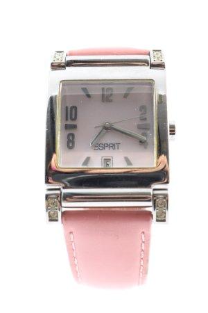 Esprit Analoguhr pink-silberfarben Elegant