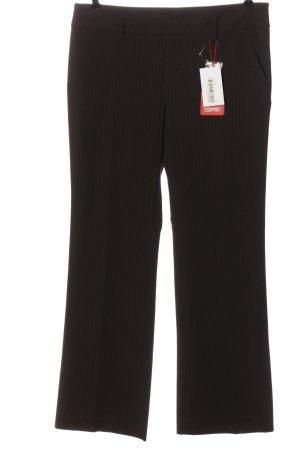 Esprit Anzughose braun-wollweiß Streifenmuster Casual-Look
