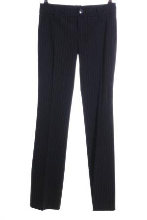 Esprit Anzughose schwarz-hellgrau Allover-Druck Business-Look