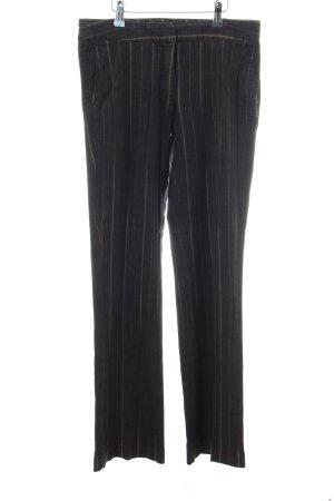 Esprit Anzughose schwarz-wollweiß Streifenmuster Business-Look