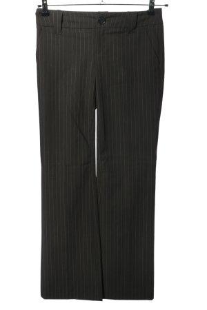 Esprit Anzughose schwarz Streifenmuster Casual-Look