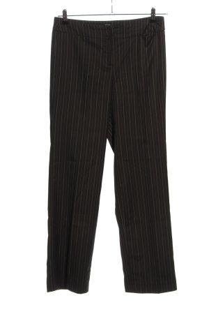Esprit Spodnie garniturowe czarny-jasnoszary Wzór w paski W stylu biznesowym