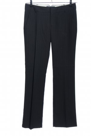 Esprit Pantalon de costume noir motif rayé style d'affaires