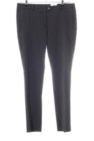 Esprit Anzughose schwarz-weiß Streifenmuster Business-Look