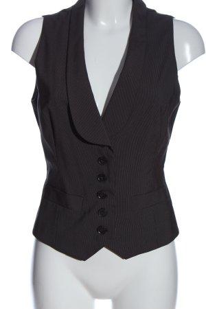 Esprit Anzugweste schwarz Streifenmuster Business-Look