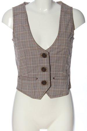 Esprit Chaleco de vestir estampado a cuadros estilo «business»
