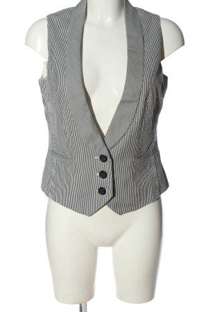 Esprit Chaleco de vestir blanco-negro estampado a rayas estilo «business»