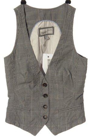 Esprit Chaleco de vestir gris claro-blanco estampado a cuadros