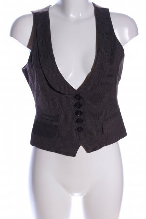 Esprit Waistcoat bronze-colored check pattern business style