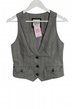 Esprit Anzugweste schwarz-weiß Karomuster Casual-Look