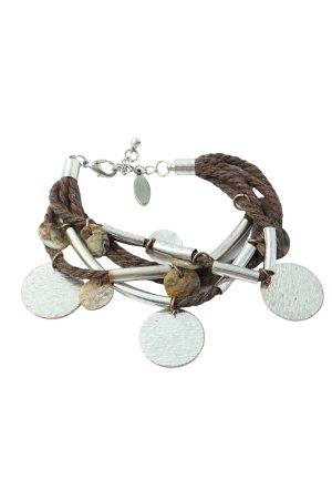 Esprit Armband braun-silberfarben Casual-Look