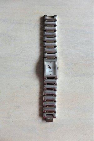 Esprit Armbanduhr  Gliederarmband Metall silber perlmutt weiß