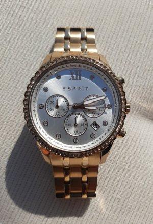 Esprit Horloge met metalen riempje roségoud
