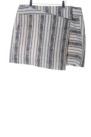 Esprit Asymetryczna spódniczka czarny-biały Wzór w paski W stylu casual