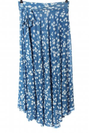 Esprit Asymmetry Skirt blue-white graphic pattern casual look