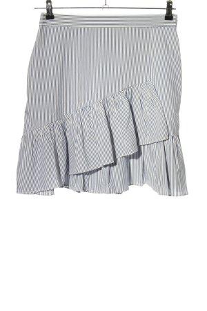 Esprit Falda asimétrica azul-blanco estampado a rayas look casual