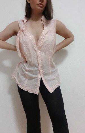 Esprit Babydoll Bluse rosa weiß Gestreift Gr. 42
