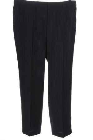 Esprit Pantalón de vestir negro estampado a rayas estilo «business»