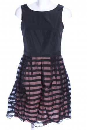Esprit Ballonjurk zwart-roze gestreept patroon elegant