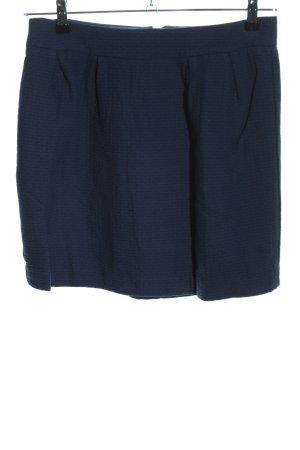 Esprit Balloon Skirt blue weave pattern business style