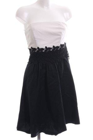 Esprit Bandeau Dress white-black elegant