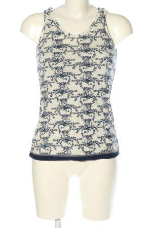Esprit Basic topje wit-blauw volledige print casual uitstraling