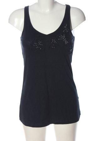 Esprit Basic Top blau Casual-Look
