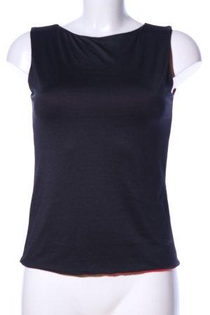 Esprit Basic Top schwarz-rot Casual-Look