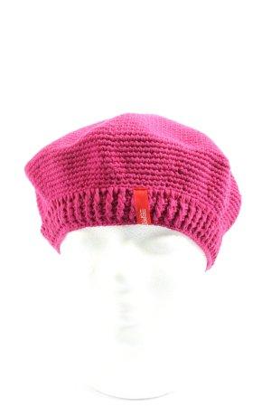 Esprit Baskenmütze pink Casual-Look