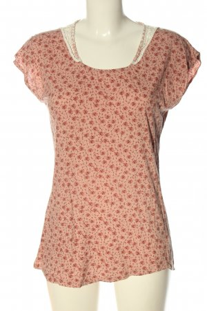 Esprit T-Shirt pink-rot abstraktes Muster Casual-Look