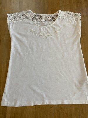 Esprit Baumwoll-Shirt in naturweiß Gr. S