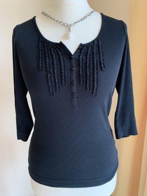 Esprit Chemise côtelée noir coton