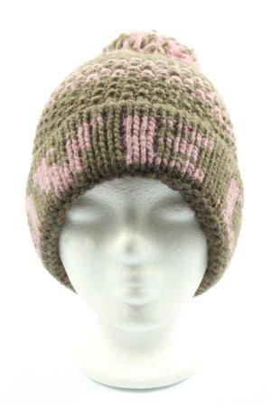 Esprit Beanie khaki-pink meliert Casual-Look