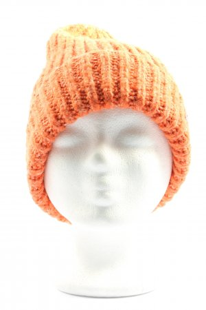Esprit Beanie light orange cable stitch casual look