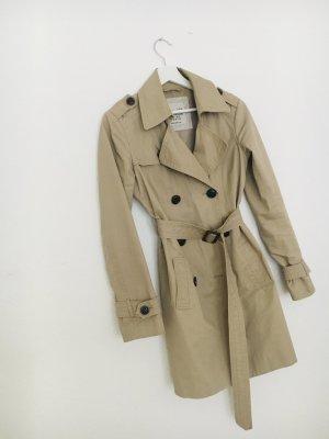 ESPRIT: Beigefarbener Trenchcoat, Übergangsmantel, Stoffmantel, Gr S, 36