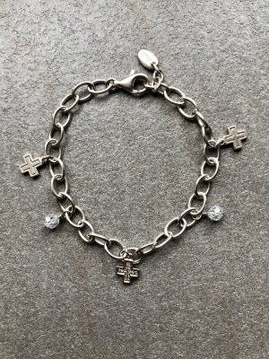 Esprit Charm Bracelet silver-colored real silver