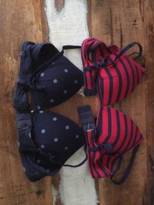 Esprit Soutien-gorge rouge-bleu foncé coton