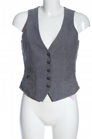 Esprit Waistcoat light grey-black striped pattern business style
