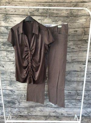 esprit collection Glanzende blouse zwart bruin