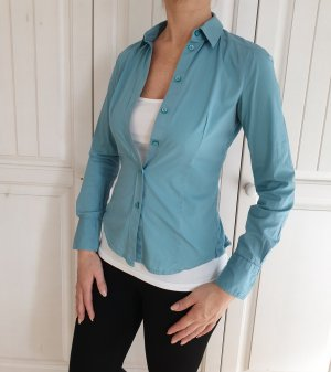 Esprit Blau Bluse Hemd 32 XXS Sommer Top T-Shirt Tshirt shirt shirt Business Klassik Anzug Blazer