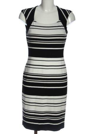 Esprit Bleistiftkleid schwarz-weiß Streifenmuster Elegant