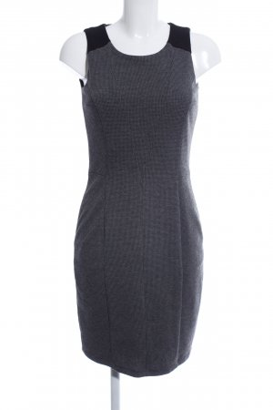 Esprit Bleistiftkleid schwarz-hellgrau Allover-Druck Business-Look