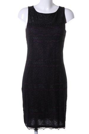 Esprit Bleistiftkleid schwarz-lila grafisches Muster Elegant