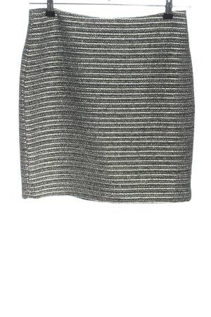 Esprit Bleistiftrock silberfarben-schwarz Streifenmuster Elegant
