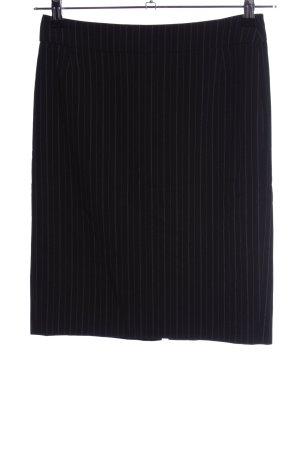 Esprit Bleistiftrock schwarz-weiß Streifenmuster Business-Look