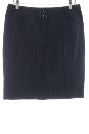 Esprit Bleistiftrock dunkelblau Streifenmuster Casual-Look
