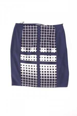 Esprit Pencil Skirt blue-neon blue-dark blue-azure polyester