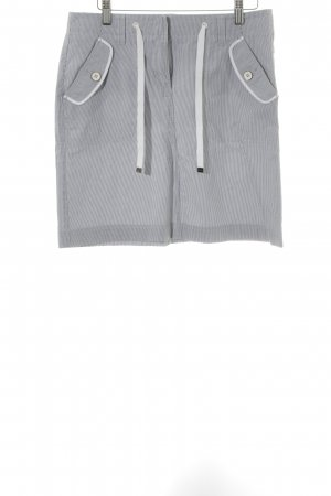 Esprit Bleistiftrock weiß-graublau Streifenmuster schlichter Stil