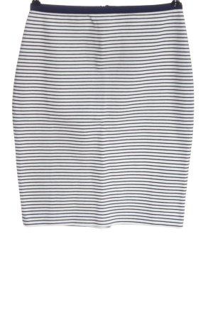 Esprit Bleistiftrock weiß-schwarz Streifenmuster Casual-Look